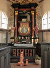 Innenansicht der Kapelle Bessin