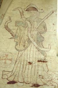Wandmalerei Jakobus der Ältere