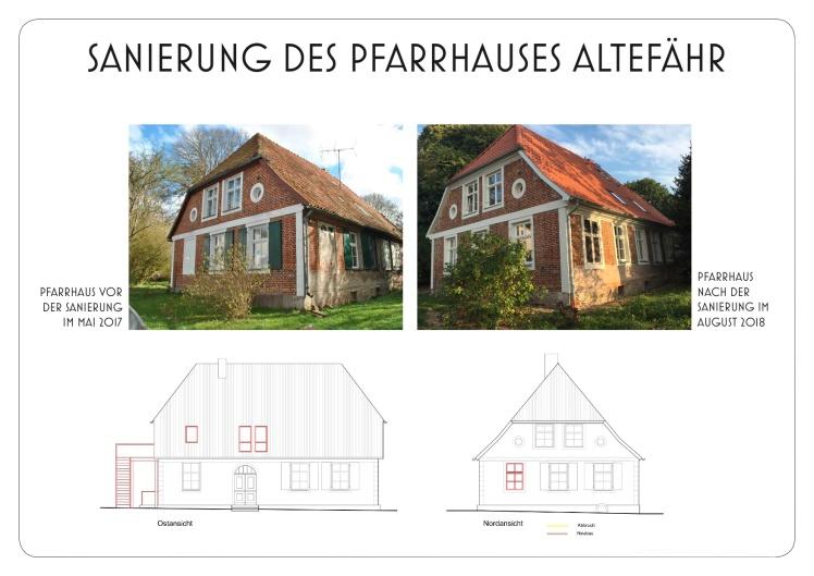 Sanierung des Pfarrhauses Altefähr